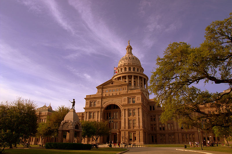 Picture of the Texas state capitol building.